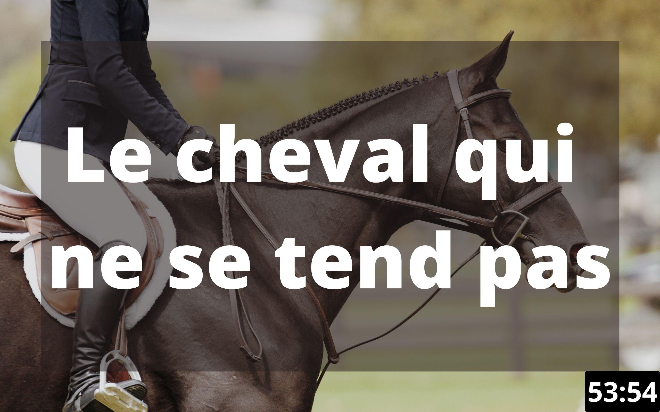 Le cheval qui ne se tend pas